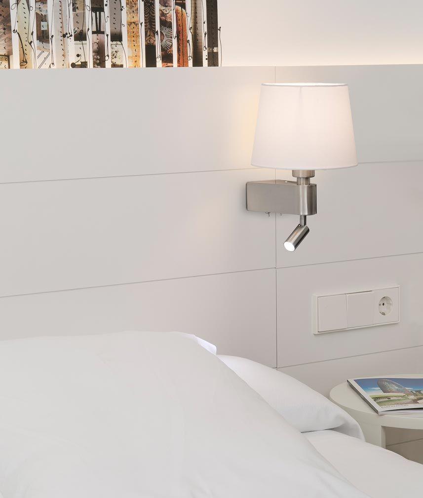 Aplique Blanco Con Lector Led Room Lamparas De Pared Apliques Pared Dormitorio Y Lamparas Dormitorio