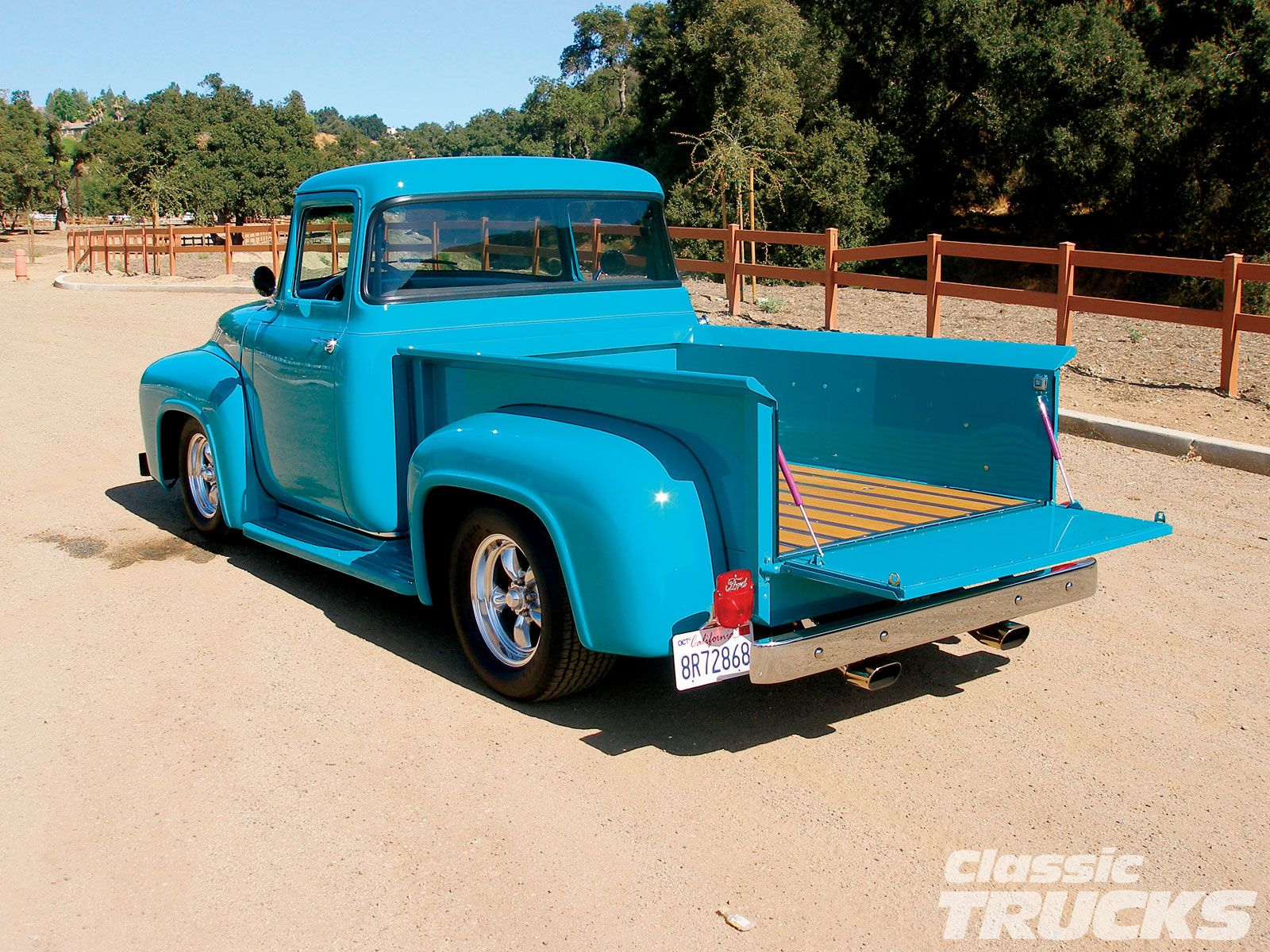 56 Ford F100. That's a striking color. | Classic trucks ...1956 Ford F100 Lifted
