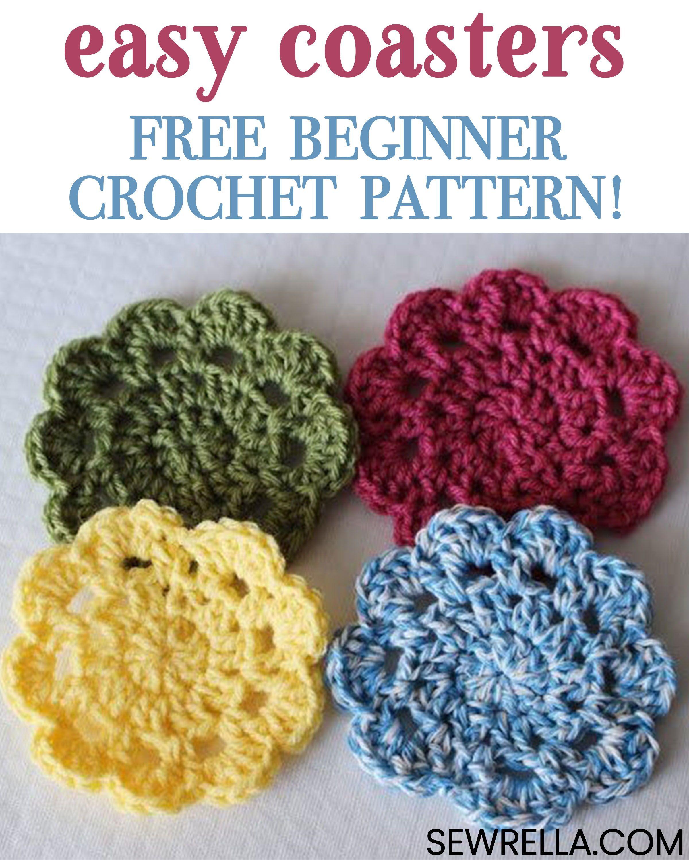 Easy Crochet Coasters Great For Beginners Top Blogs Pinterest