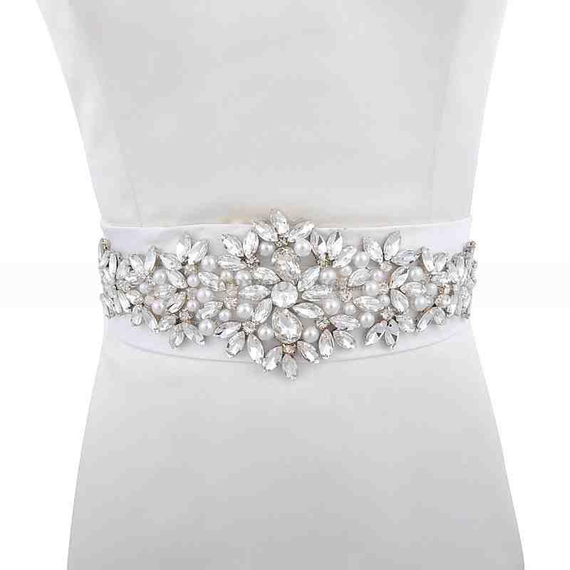 Bridal belts and sashes rhinestone wedding dress