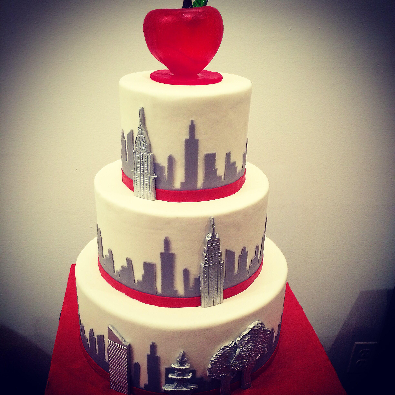 Sugar apple New York skyline wedding cake | Wedding Cakes ...