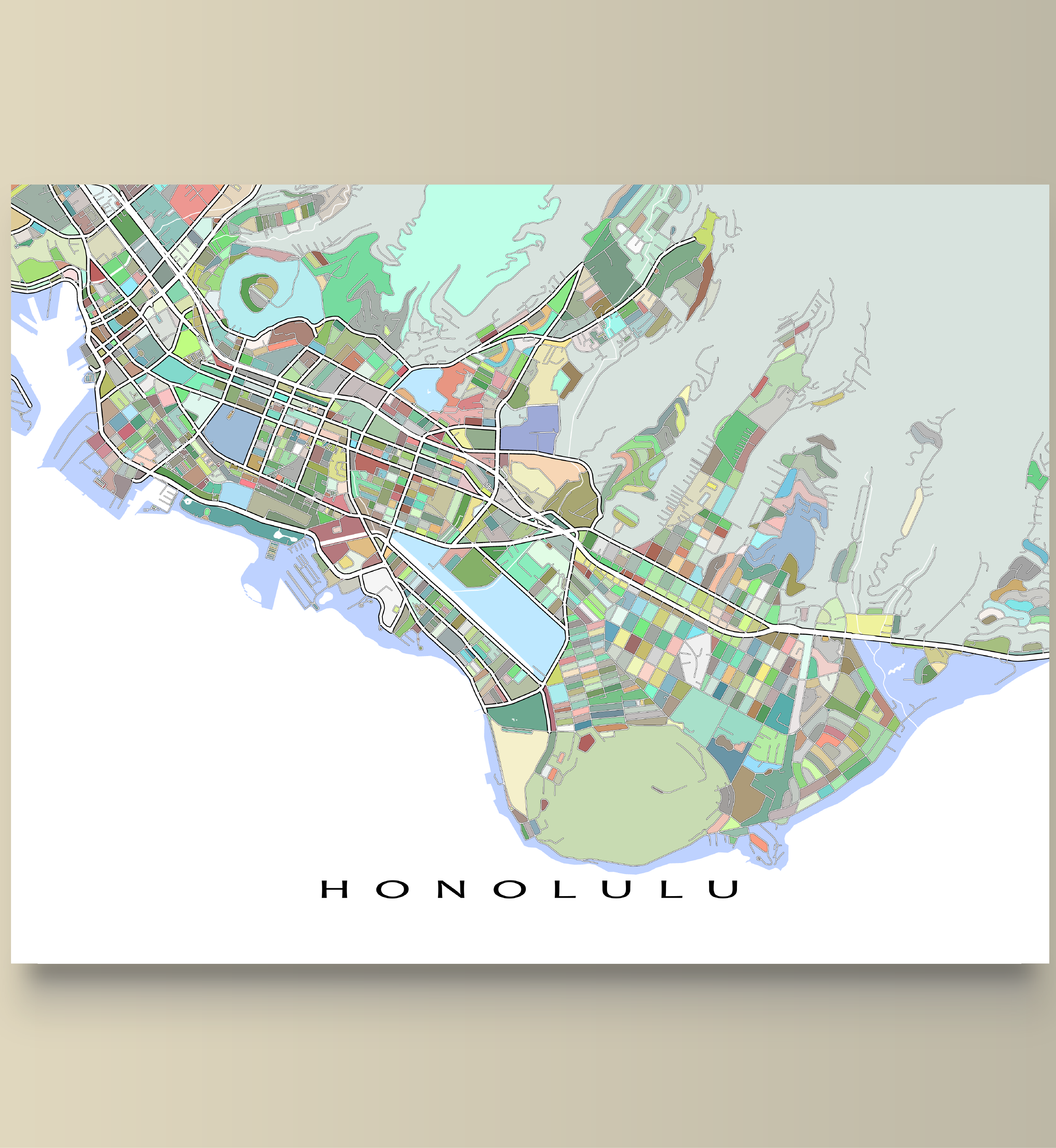 Then this Honolulu map print is for