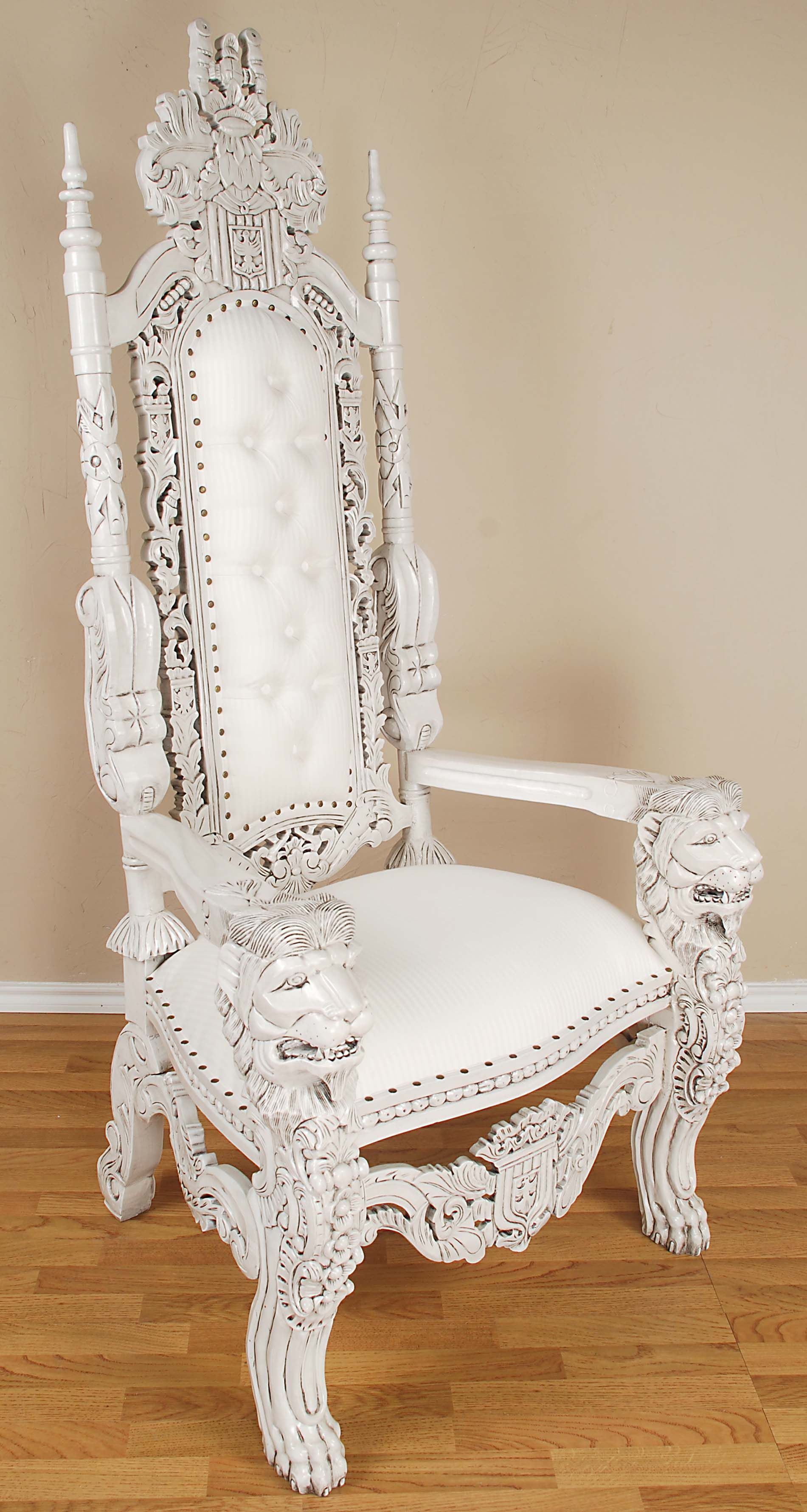 King And Queen Throne Chairs For Rent King Lion Throne Chair White For The Home In 2019