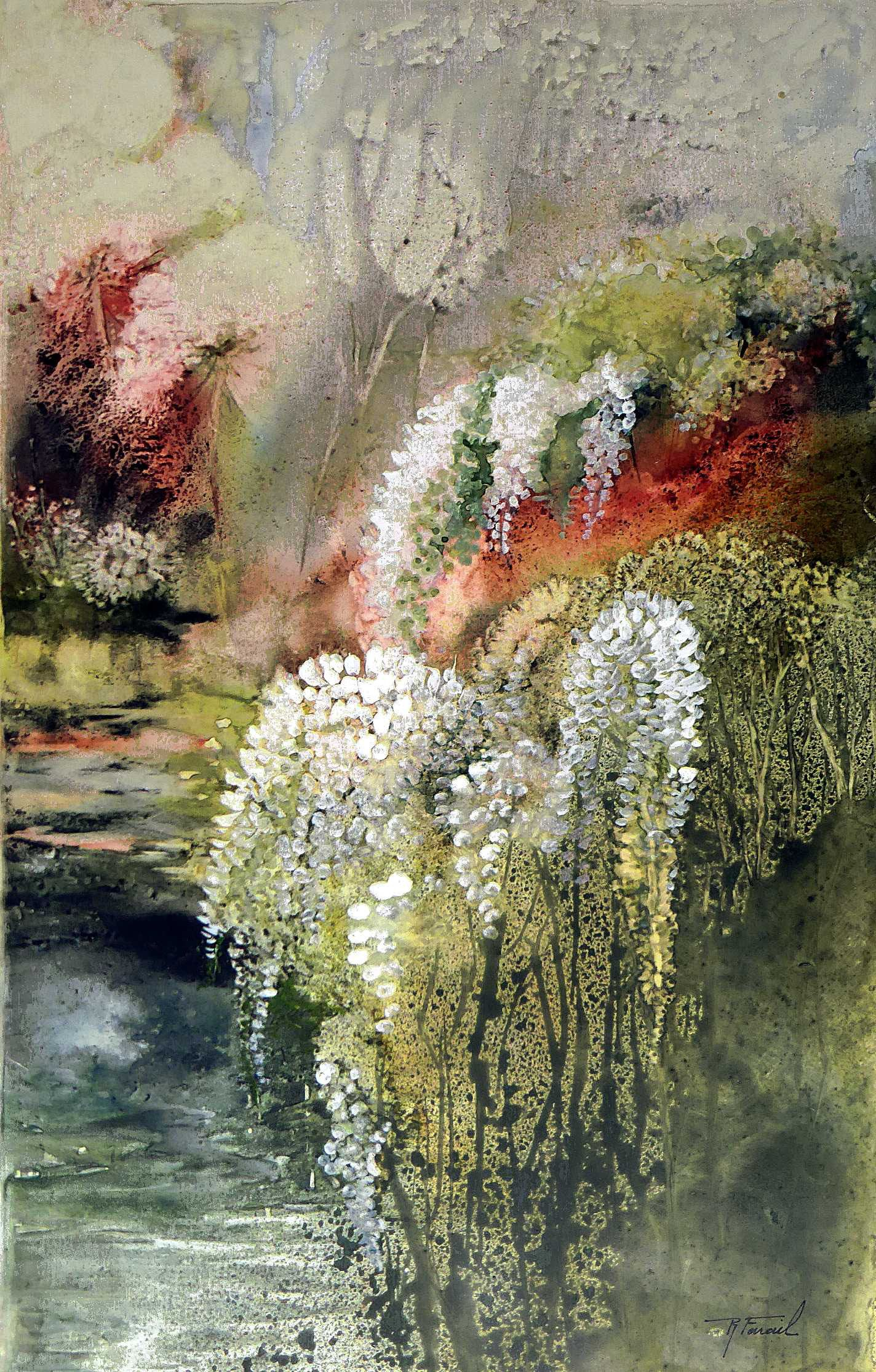 Quelques Aquarelles Recentes En Vrac Des Floralites Des