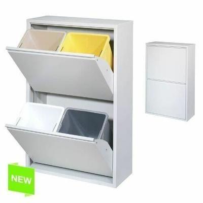 Systeme De Tri Selectif Avec 2 Portes 2x2 Poub Rangement Maison Trucs Et Astuces Cuisine Ikea Meuble Lave Vaisselle