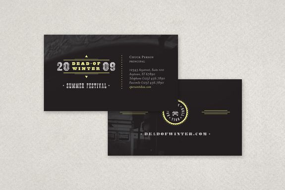 Rock Concert Music Industry Business Card Design From Inkd
