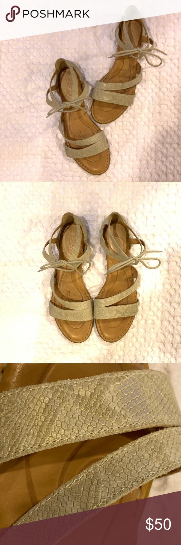 280be37f1f3a Born Casma Cream Sandals Size 9 Clean lines and a unique silhouette give  the Born Casma