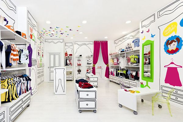 Piccino Kids Wear Boutique With Images Store Design Interior