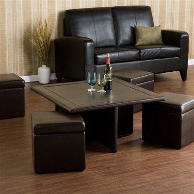 Boston Loft Furnishings Atg5404 Nylo Storage Cube Coffee Table