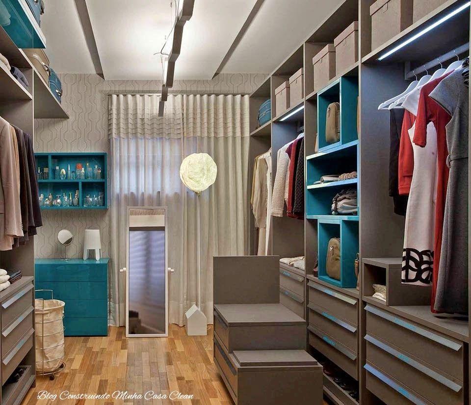 Closet Com Ou Sem Porta Modelos Lindos Pequenos E Famosos  ~ Decoração De Quarto Criativo E Closet No Quarto Pequeno