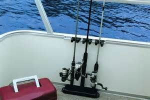 TACO DELUXE 4 ROD PONTOON BOAT TACKLE RACK WHITE