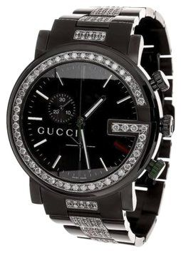 97bb0fc033a Gucci Ya101331 Watch Black Pvd Full Diamond 101 G Mens Custom Real Mm Ct.