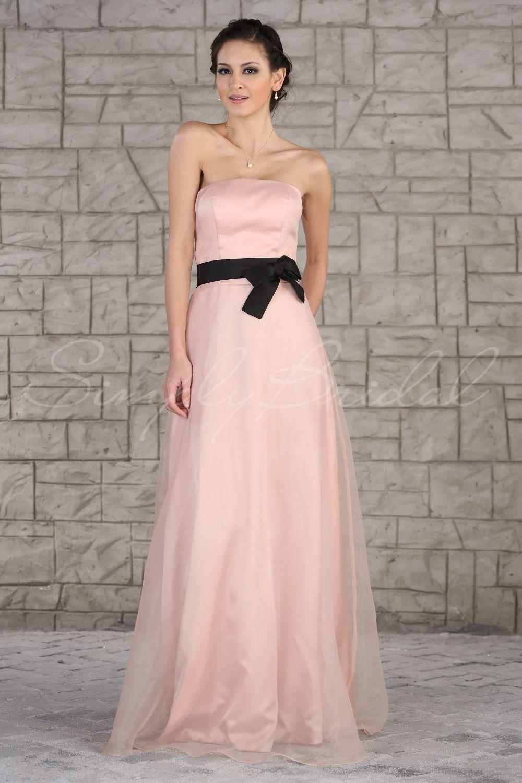 Aline strapless organza dress with sash simplybridal wedding