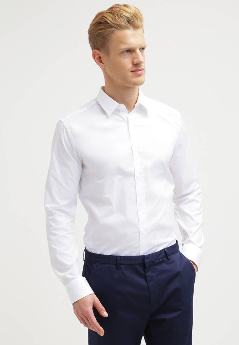 3a4063257 ELISHA EXTRA SLIM FIT - Camisa elegante - open white   Zalando.es ...