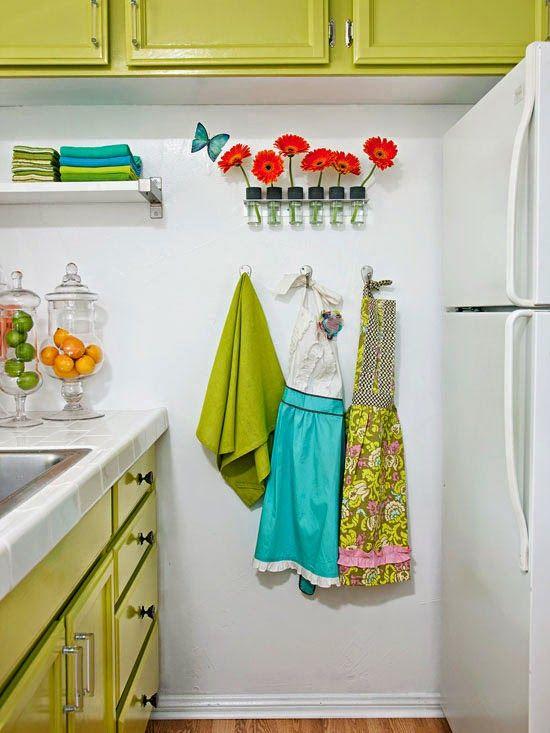 Tiny Colorful Kitchen | Beautiful Kitchens | Pinterest