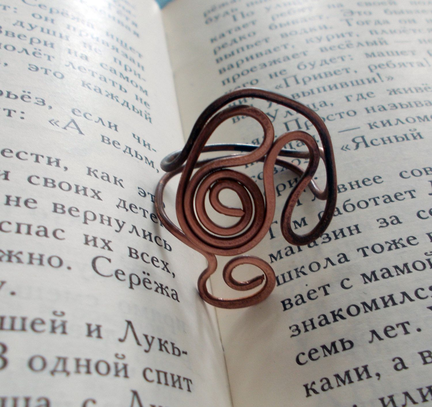 Wire Wrapped Adjustable Copper Ring - wire wrapped ring handmade - pinned by pin4etsy.com
