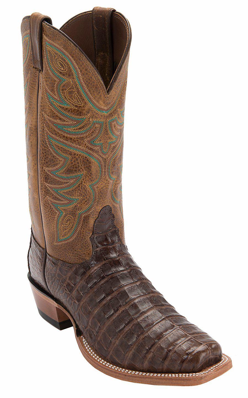 c713fc16494 Nocona® Men's Chocolate Caiman Alligator Punchy Square Toe Exotic ...