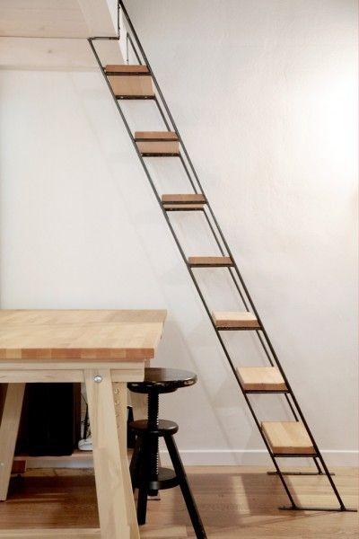 Les 25 meilleures id es de la cat gorie echelle escalier for Escalier escamotable mezzanine
