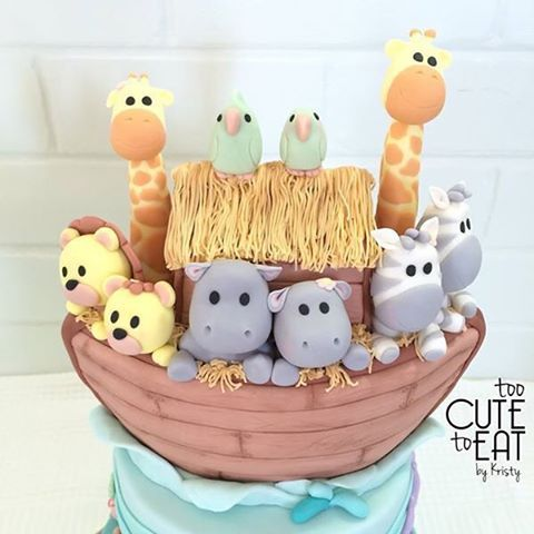 Noah S Ark Cake Topper The Whole Gang Boat Was Made Of Rice
