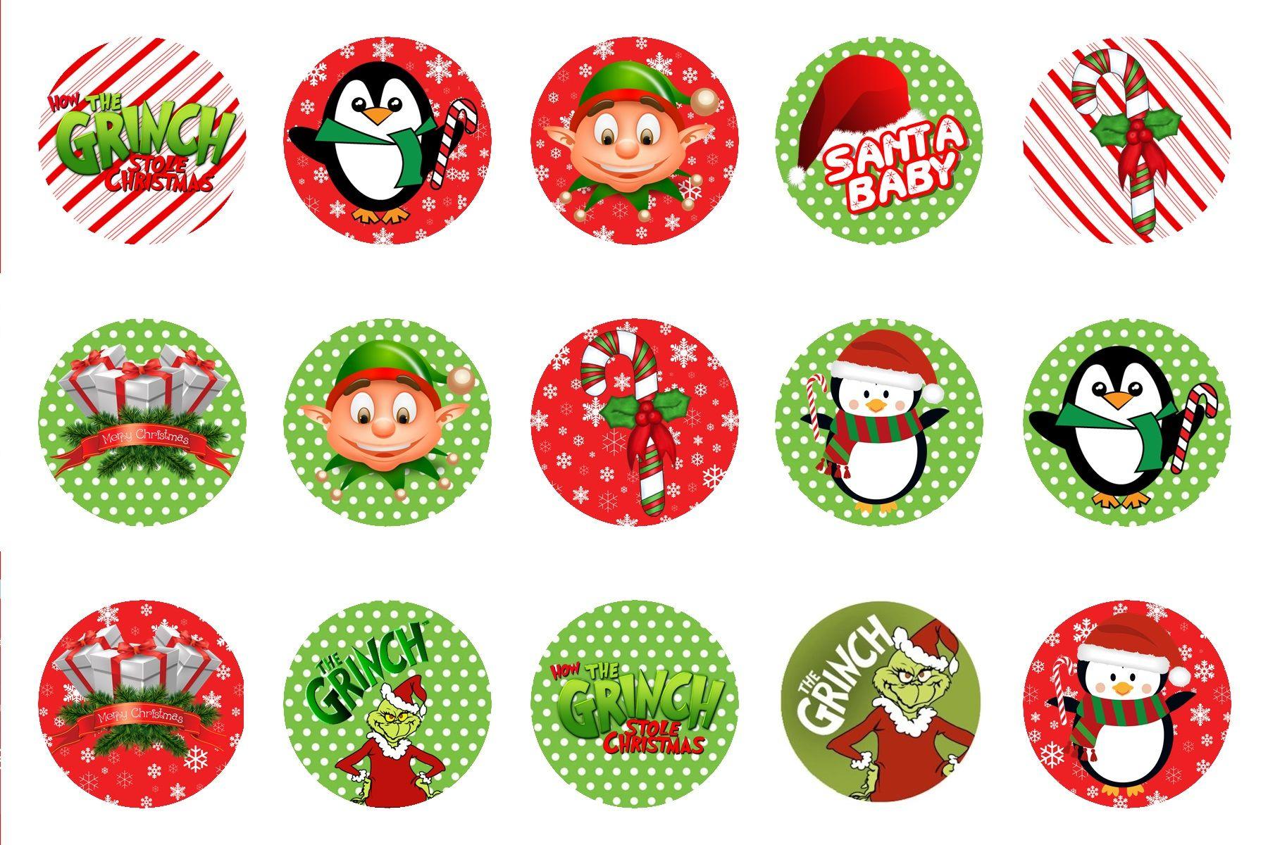 Free Christmas Bottle Cap Images BCI's