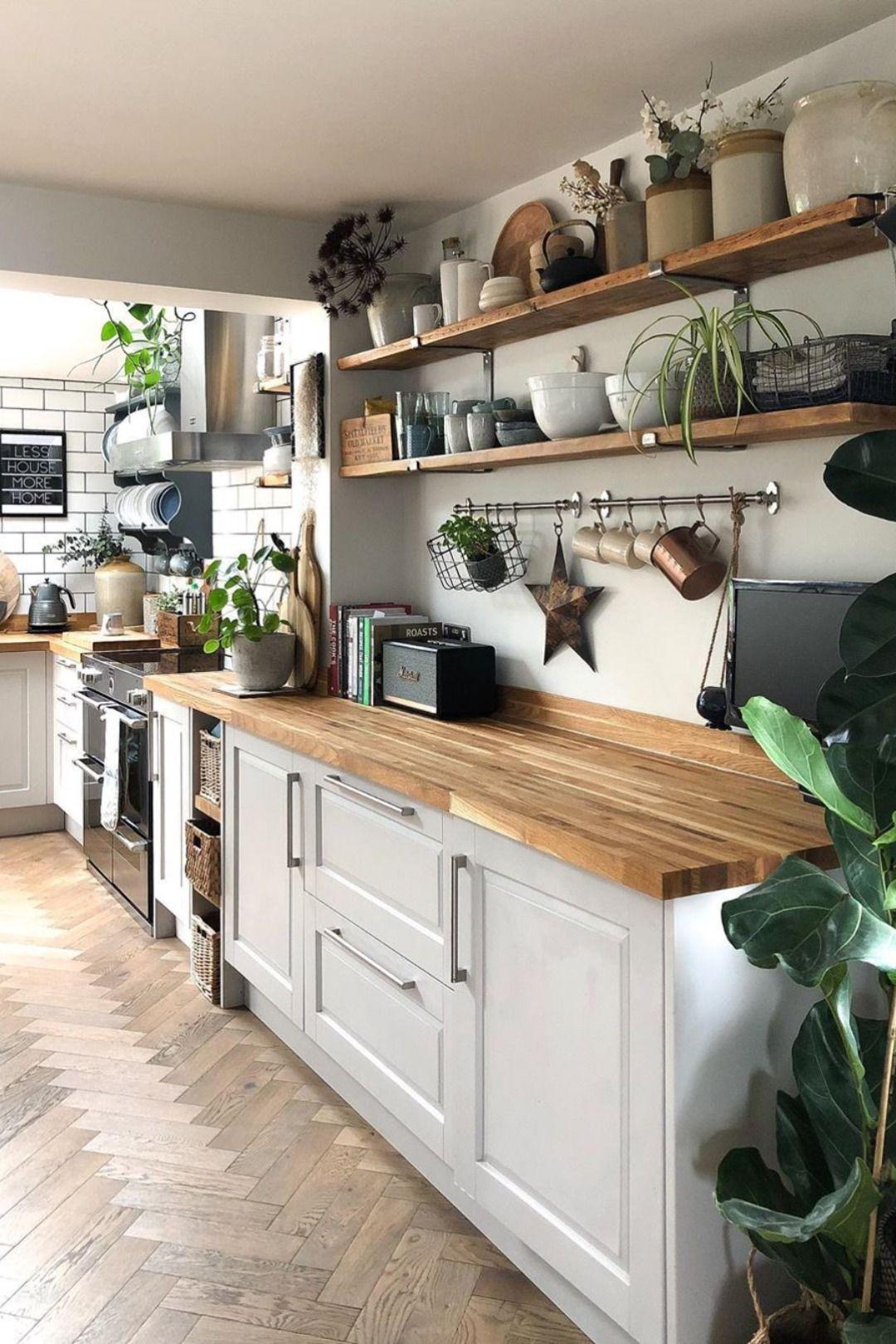 Cuisine blanche et bois scandinave   Cuisine blanche et bois ...