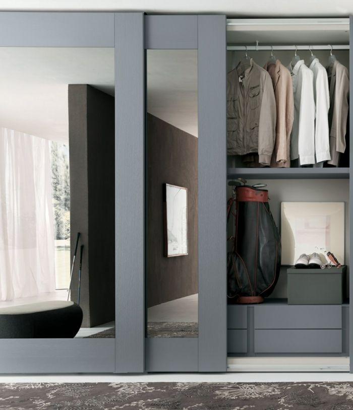 kleiderschrank spiegel modern, kleiderschrank mit schiebetüren - 55 moderne kleiderschränke, welche, Design ideen
