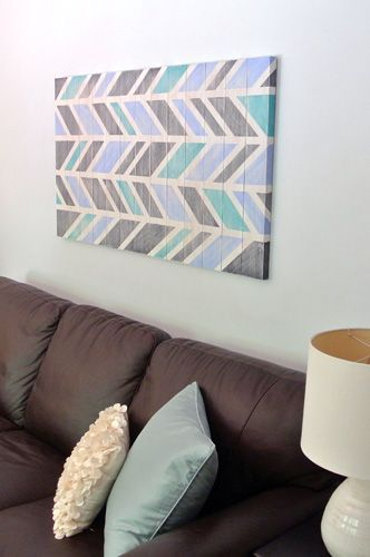 Cool My Almost FREE DIY Scrap Wood Wall Art Contemporary - Best of herringbone wall New Design