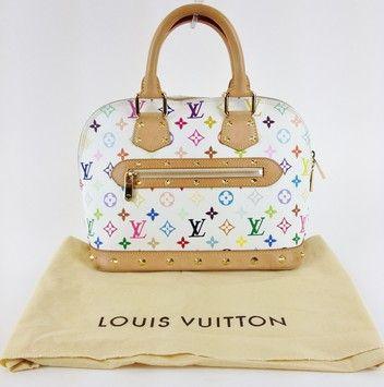 Louis Vuitton Alma Satchel In Multicolor 39 Off Tradesy Louis Vuitton Louis Vuitton Satchel Louis Vuitton Alma Bag