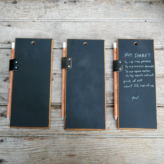 Trio of Chalkboard Tablets by PegandAwl on Etsy, $60.00