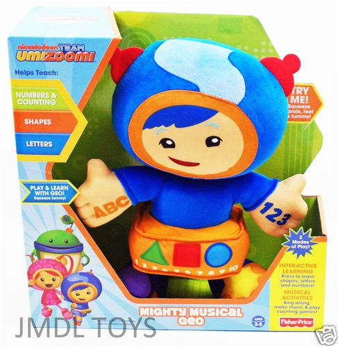 Team Umizoomi Roblox Team Umizoomi Mighty Musical Geo Plush Doll 12 H Interactive Sings Talks New Plush Dolls Team Umizoomi Musicals