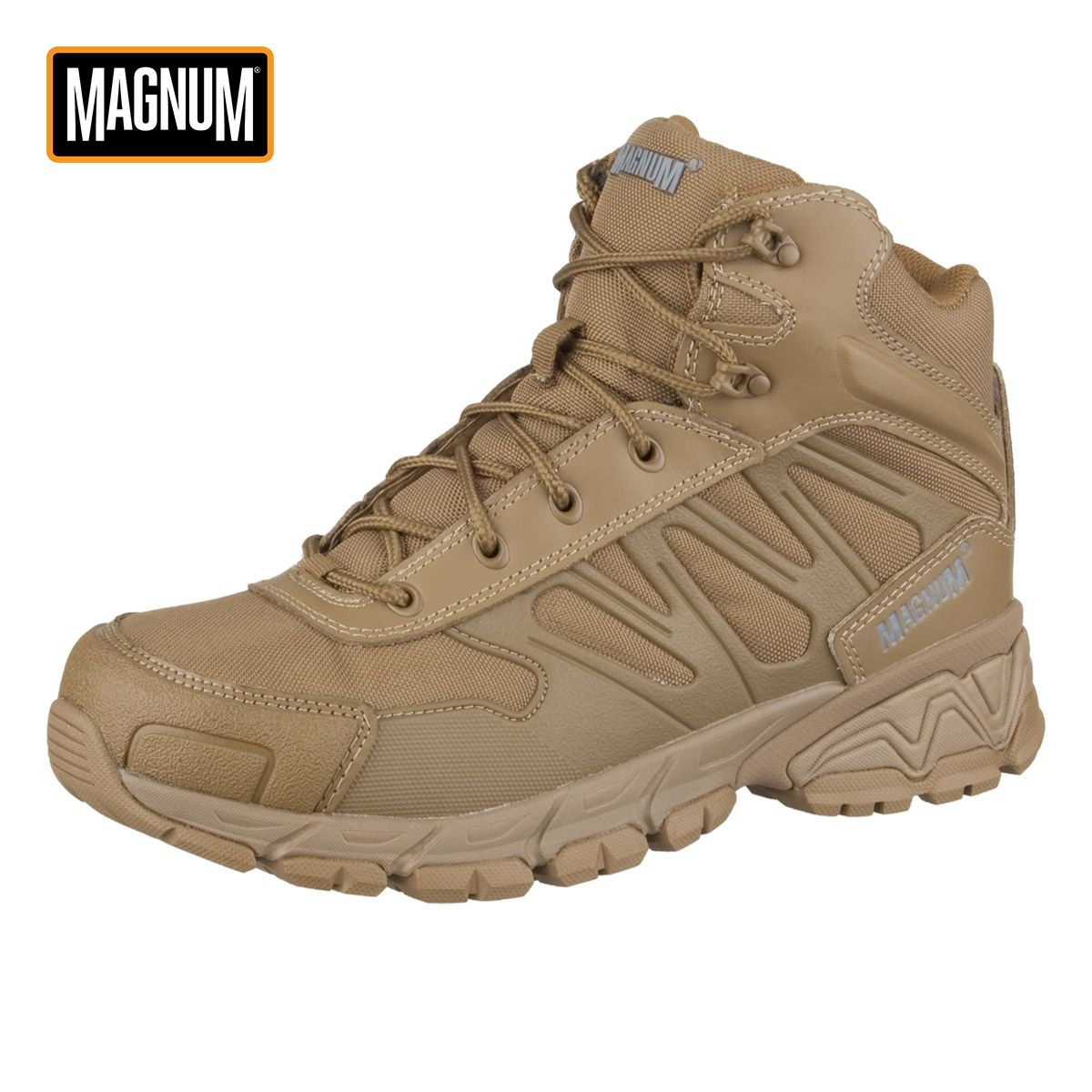 Closed toe medical walking shoe foot protection boot - These Robust And Comfortable Magnum Uniforce 6 0 Boots In Coyote Colour Feature Action Leather And Mesh