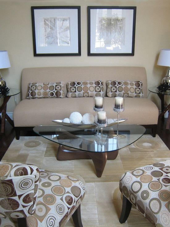 Small living room the light earth tones open and