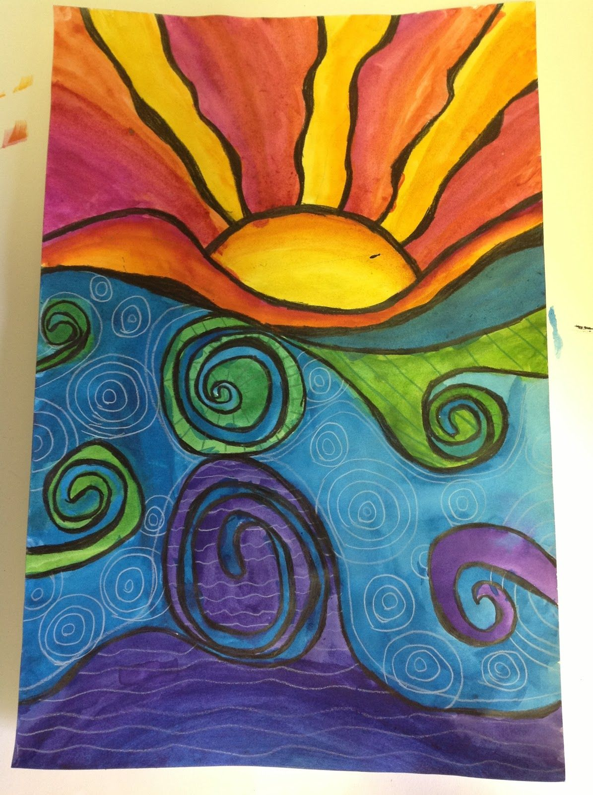 Color It Like You MEAN 4th Grade Abstract Sunsets