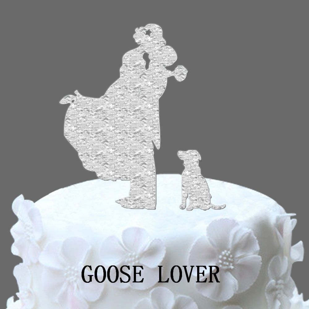 Funny Dog Cake Accessories,Simple Style Pretty Bride And Groom ...