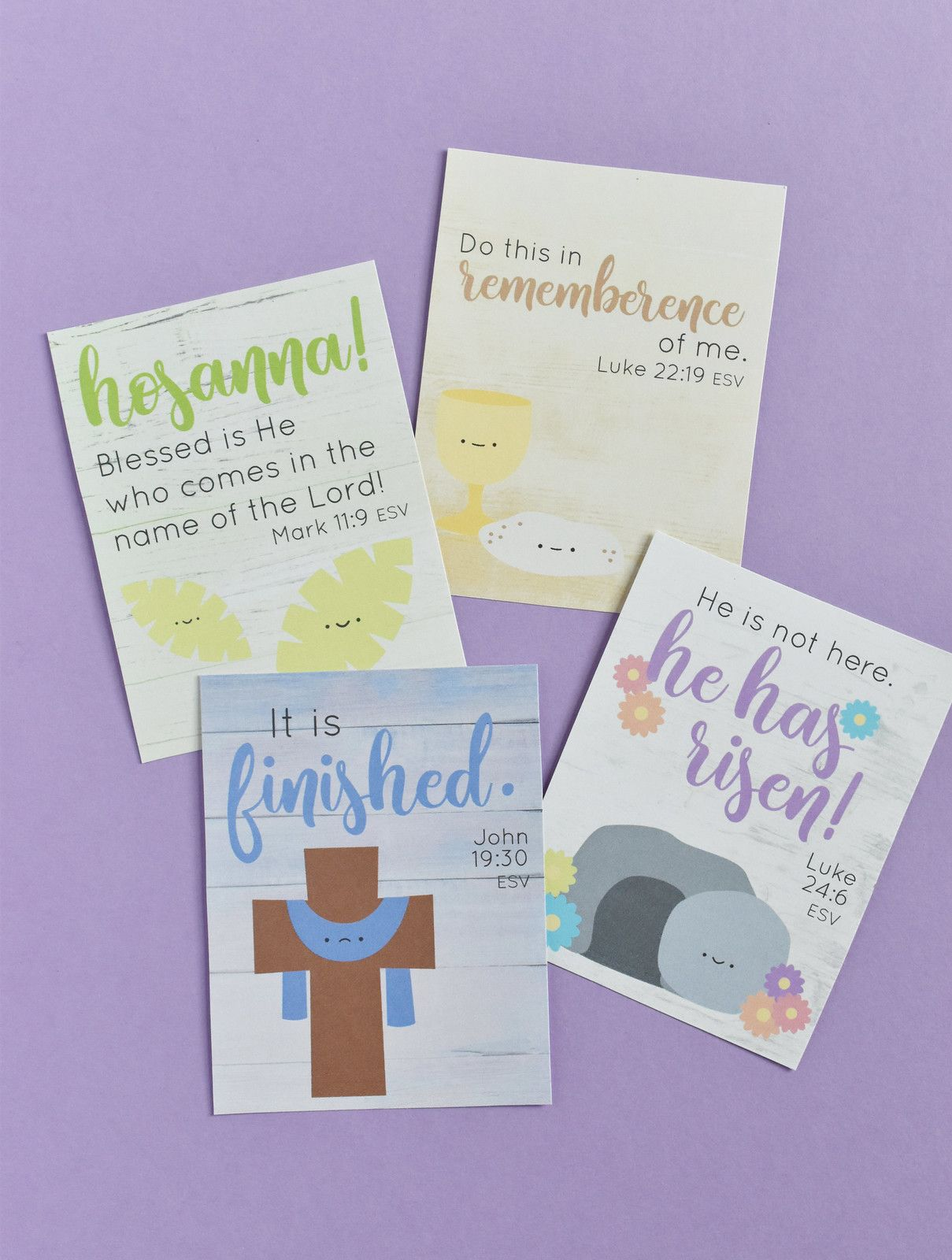Wild Olive Printable Holy Week Verse Cards In