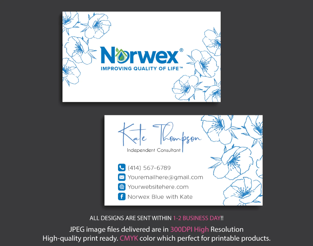 Norwex Business Cards Personalized Norwex Template Nr14 Custom Business Cards Personal Business Cards Cleaning Business Cards