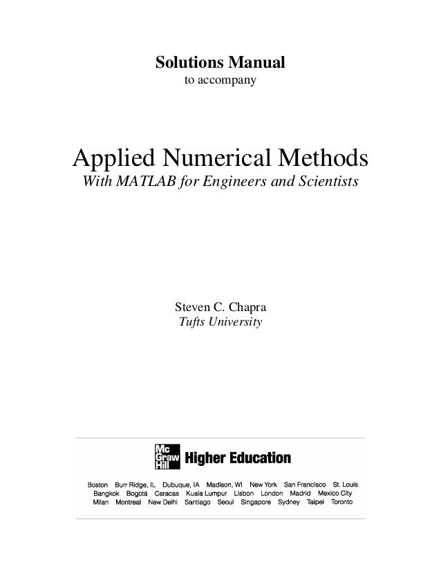 solutions manual to accompany applied numerical methods with matlab rh pinterest com Numerical Methods Skydive Numerical Methods Skydive