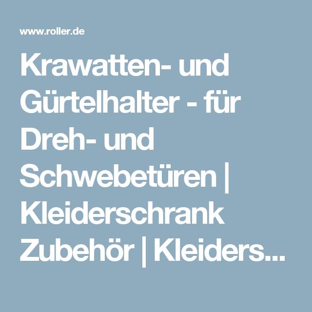 Krawatten- und Gürtelhalter - für Dreh- und Schwebetüren ...