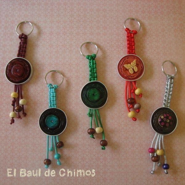 Llaveros manualidades crafts bijoux handwerk - Manualidades de llaveros ...