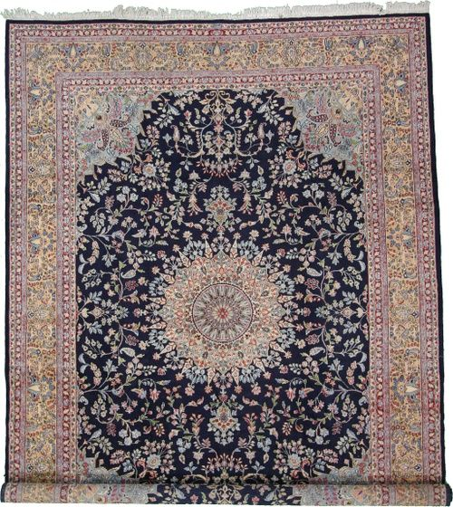 9 11 X 13 6 Navy Blue Kerman Area Rug Persian Rugs Rugs On