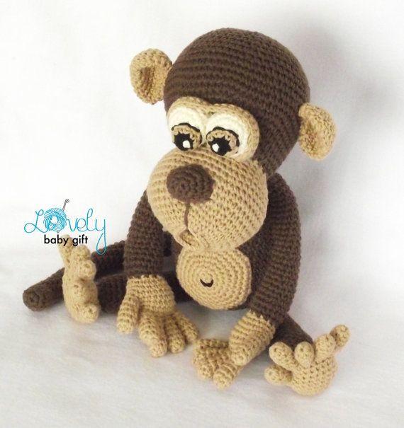 Amigurumi Pattern, Monkey, Animal Crochet Pattern, CP-147 | Monos ...