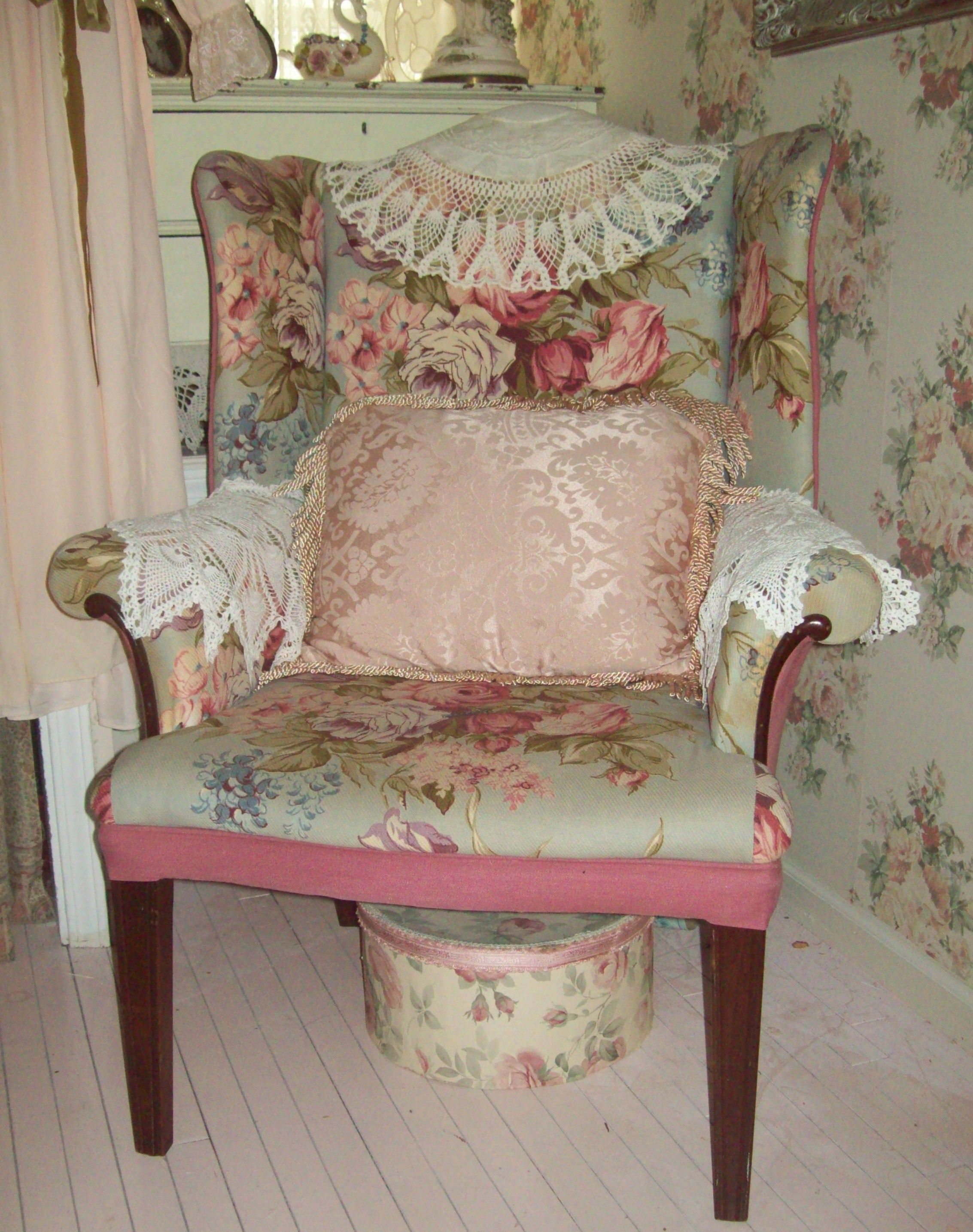 cute cottage chair...thrift shop find...hurray