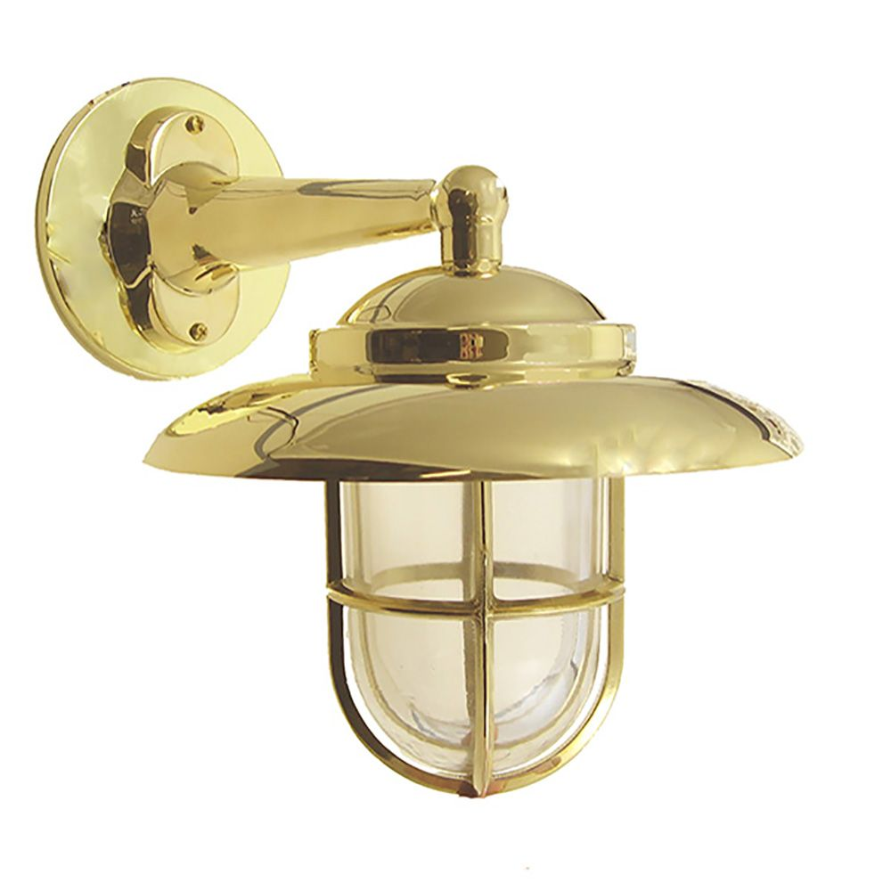 Small Hooded Wall Mount In 2020 Brass Outdoor Lighting Exterior Wall Light Traditional Wall Lighting