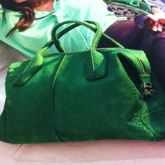 I love a bag in a fab color! this one's from Tod's.