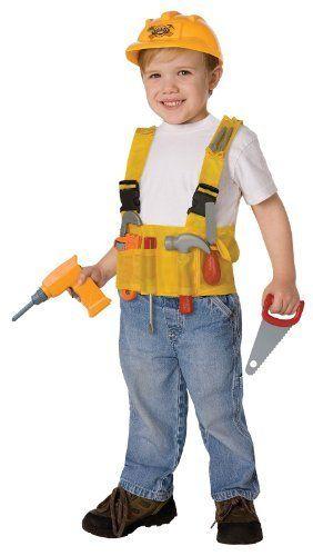 Construction Worker Child Halloween Costume Kit (One Size (Fits - kid halloween costume ideas