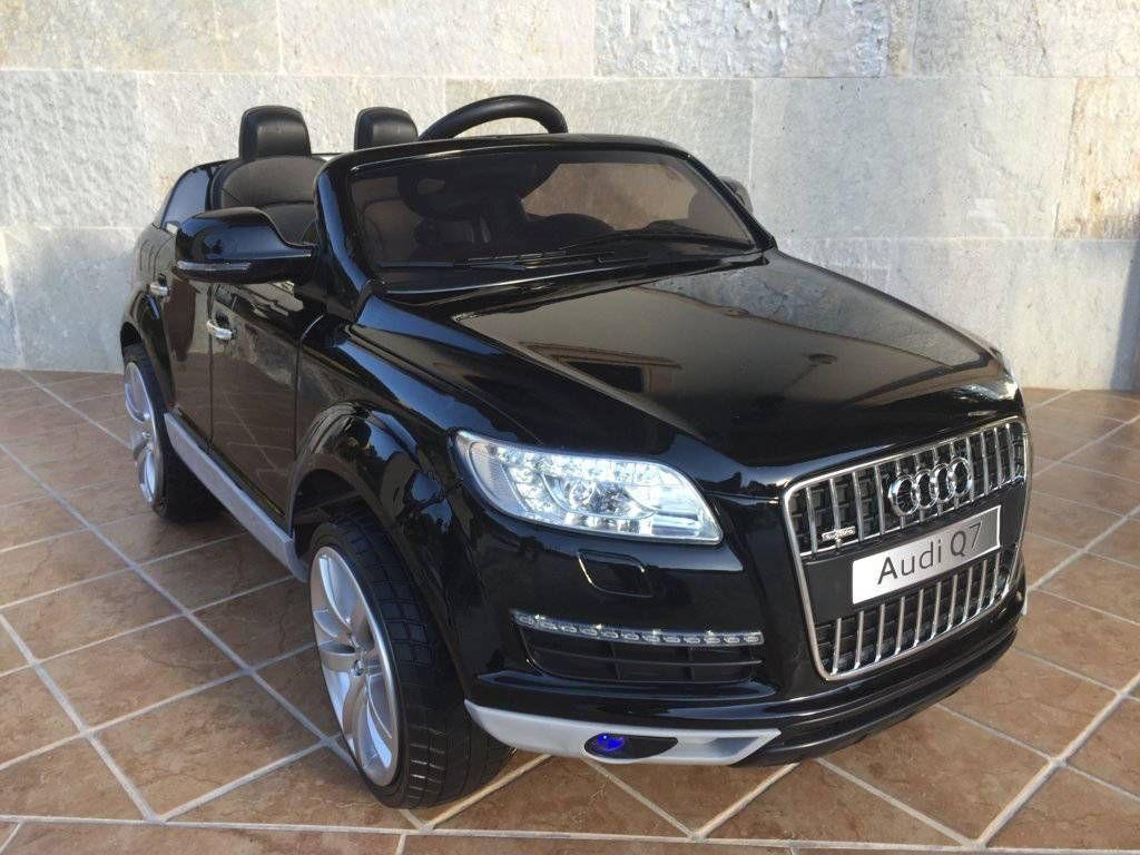 Coche el ctrico ni os 12v rc audi q7 negro metalizado 2 4g for Asientos infantiles coche