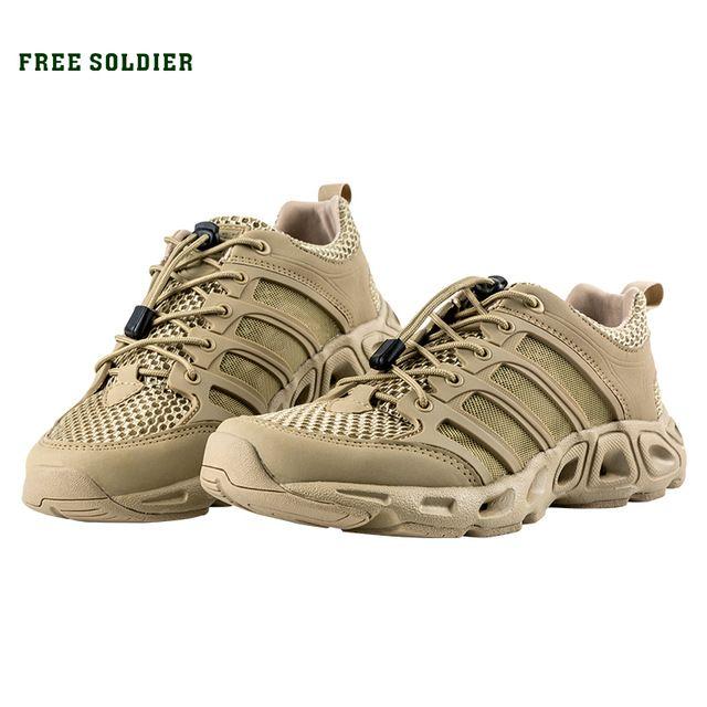 huge discount 3fa3e 289a8 Free soldier zapatos para hombres deportes al aire libre táctico senderismo  zapatos de escalada transpirable