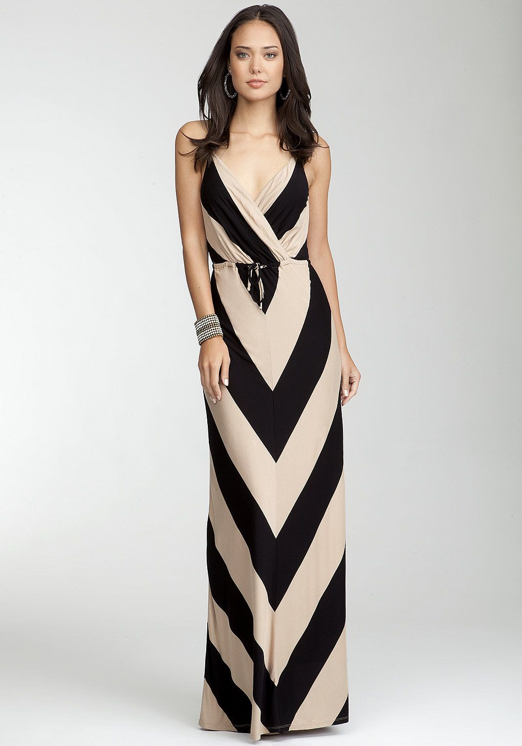 White and Black striped maxi dress bebe pictures