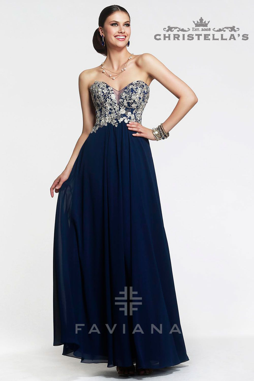 Faviana S7325 Dress / $398 - Shop the look at Christellas.com