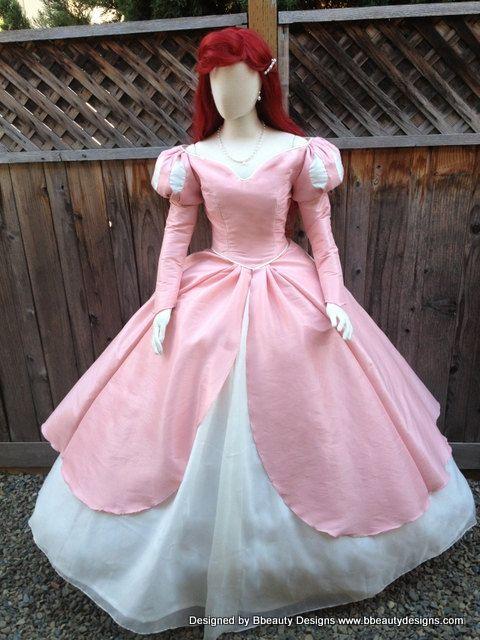 1c8505328e6e Ariel Little Mermaid Inspired Romantic Pink Dinner Dress Off the ...